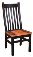 Black Barnwood Mission Side Chair