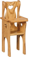 Amish Handcrafted Doll's High Chair