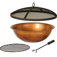 Hanamint Copper Painted Steel Bowl & Accessories