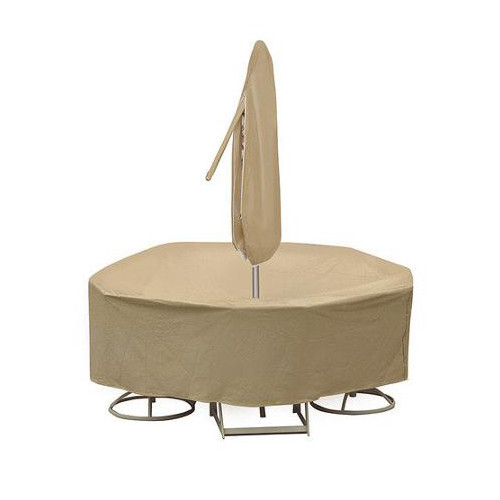 Adco Round Table and Chair Cover with Umbrella Hole Southern Outdoor Furniture