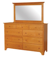Amish Handcrafted Shaker Tall Dresser With Mirror