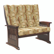 Amish Handcrafted Deluxe Mission Loveseat