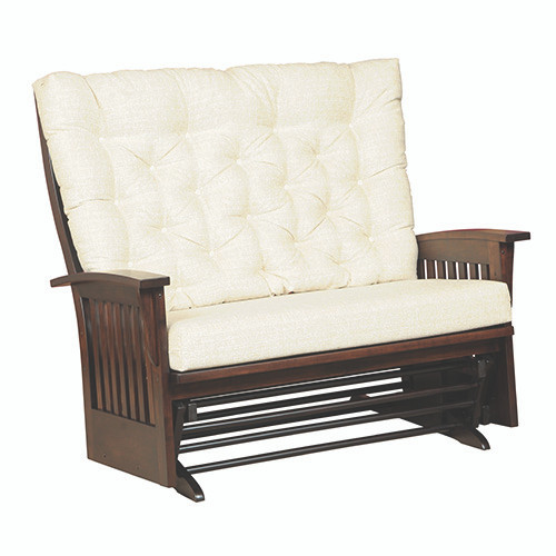 Image 1 - Amish Handcrafted Deluxe Mission Loveseat Glider - Southern Outdoor