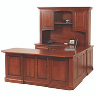 Amish Handcrafted Buckingham U-Shape Desk & Hutch