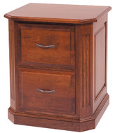 Amish Handcrafted Buckingham Two Drawer File