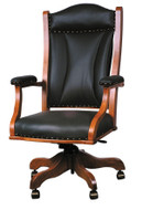 Amish Handcrafted Buckingham Desk Chair