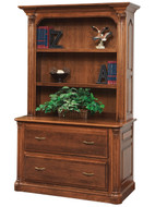 Amish Handcrafted Jefferson Lateral File and Bookshelf