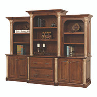 "Amish Handcrafted Jefferson 113"" Base & 3-Piece Hutch"