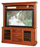 Amish Handcrafted Buckingham TV Stand & Hutch