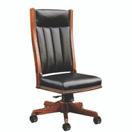 Amish Handcrafted Mission Side Desk Chair