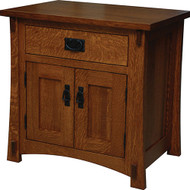 Amish Handcrafted Dutch County 1-Drawer 2-Door Nightstand