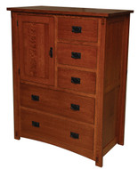 Amish Handcrafted Dutch County Door Chest