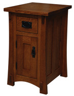 Amish Handcrafted Dutch County 1-Drawer 1-Door Nightstand