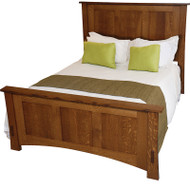 "Amish Handcrafted Dutch County Bed With 32"" Footboard"