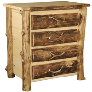 Amish Handcrafted Rocky Mountain Aspen 4 Drawer Chest