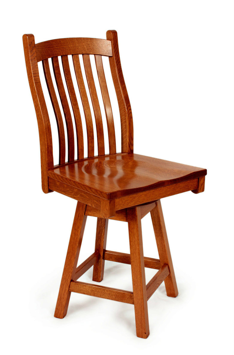 Mission 24 Quot Swivel Bar Stool With 01 Back Southern