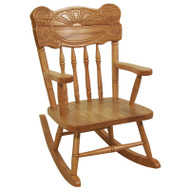 Amish Handcrafted Sunburst Child's Rocker