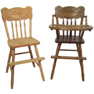 Amish Handcrafted Sunburst High Chair & Youth Chair