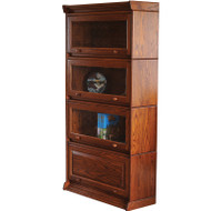 Amish Handcrafted Four Unit Stackable Barrister Bookcase
