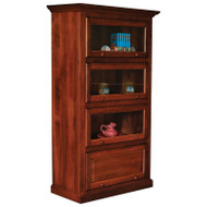 Amish Handcrafted Barrister One Piece 4-Door Bookcase