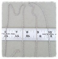 4ft  SILVER Finish Chain 3mm Oval ~ Rosary Parts