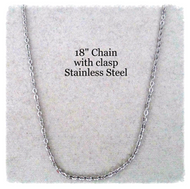 "18"" Stainless Steel Chain Necklace"