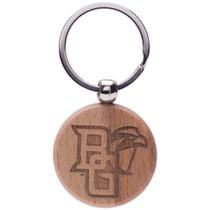Round Wood Keychain