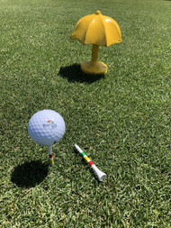 Tee up with our custom wooden Umbrella Tee!