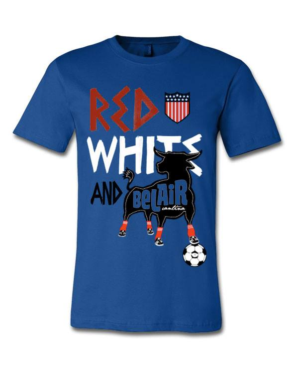 Bel Air Cantina Milwaukee Red White and Bel Air soccer shirt