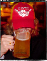 Red and Gold Too Much Rock Trucker Hat