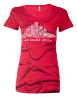 Red Milwaukee Skyline Women