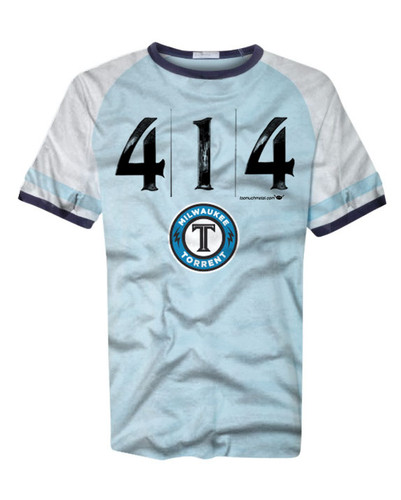 Too Much Metal and Milwaukee Torrent 414 shirt partnership.