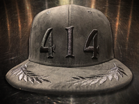 This is the best 414 Boss hat yet. Suede and scrambled eggs. The faux suede finish is so soft it feels like a million bucks. With beer wheat shaped embellishments on the visor, this detail is a slang term know as scrambled eggs.  The 414 Milwaukee hat is for bosses and Miltown Hustlers only. You know who you are. Exclusive limited edition (48 hats) 414 Black on Black  fitted hat exclusively at Too Much Metal.