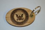 3D Navy Key Ring