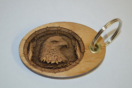 """Your message (Maximum 30 characters including spaces) can be engraved on the back . $5.00 extra charge added. We will format to best fit on your key ring. Please be sure to click """"Add Message Box"""" so that we see your message."""