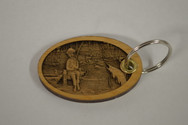 3D Fishing Boy Key Ring