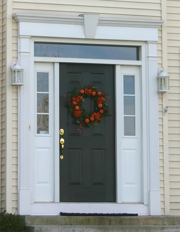 front door with 12 inch crosshead and keystone