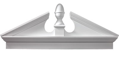 Fypon Combination Acorn Pediment