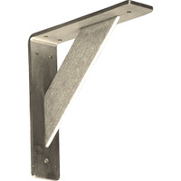 """2""""W x 8""""D x 8""""H Traditional Bracket, Stainless Steel"""