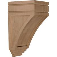 "5""W x 6""D x 10 1/2""H Medium San Juan Wood Corbel, Paint Grade"