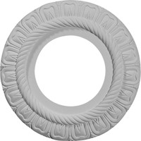 """9""""OD x 4 3/8""""ID x 1/2""""P Claremont Ceiling Medallion (Fits Canopies up to 5 1/2"""")"""