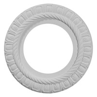 """10 5/8""""OD x 5 3/4""""ID x 1/2""""P Claremont Ceiling Medallion (Fits Canopies up to 3 3/16"""")"""