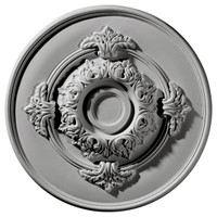 "13 3/4""OD x 3 3/4""ID x 1""P Monique Ceiling Medallion"