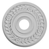 "16 1/4""OD x 3 5/8""ID x 1""P Wreath Ceiling Medallion (Fits Canopies up to 5 1/8"")"