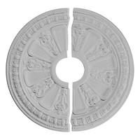 "17 5/8""OD x 3 5/8""ID x 7/8""P Raymond Ceiling Medallion, Two Piece"