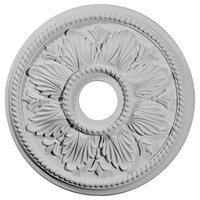 "18 1/8""OD x 3 1/2""ID x 2 3/4""P Edinburgh Ceiling Medallion (Fits Canopies up to 5 1/8"")"