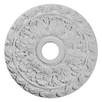 """19 7/8""""OD x 3 5/8""""ID x 1 1/4""""P Spring Leaf Ceiling Medallion"""