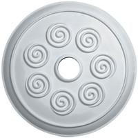 """25 1/4""""OD x 4""""ID Spiral Ceiling Medallion"""
