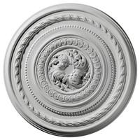 "26 1/4""OD x 1 1/2""P Pearl Ceiling Medallion"