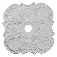 """29""""OD x 3 5/8""""ID x 1 3/8""""P Flower Ceiling Medallion (Fits Canopies up to 6 1/4"""")"""
